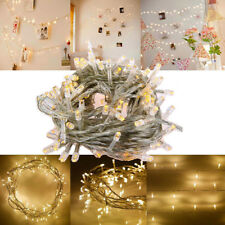 Warm White 10M 100LED Christmas Wedding Xmas Party Decor Fairy String Light Lamp