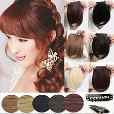 USE Real Thick Straight Bang Clip in on Fringe Hair Extensions Human Hairpiece q