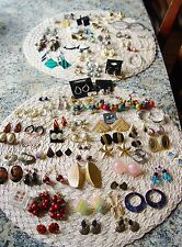 Vintage Jewelry Lot of 89 Pierced Earrings......Some Makers Marks!