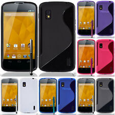Protective Cover for Google Nexus 4 E960 / Mako TPU Silicone Flip Case