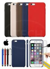 Apple iPhone 6 - Leather Hard Back Case Cover, Stylus Pen & Tempered GLASS