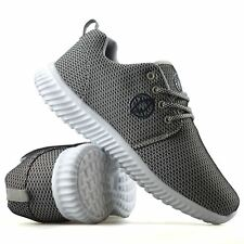 Mens Casual Walking Running Gym Sports Shock Absorbing Lace Up Trainers