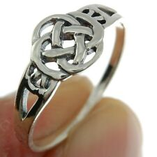 Plain Celtic Knot Silver Ring, MIX US SIZE, 925 Solid Sterling Silver, rp676
