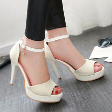 Women Platform Sandals High Heel Ankle Strap Ladies Sexy Party Shoes Meotina