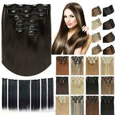 Long Straight Women Clip In Hair Extension Synthetic Clip In Hair Heat Resistant