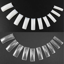 500Pcs Clear White Natural French Acrylic False Fake Nail Art Tips DIY