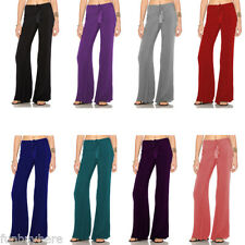 Gamiss Women Ladies Lace Up Trousers Palazzo Flared Trousers Wide Leg Pants 4-12