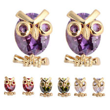 Women Cute Owl Cubic Zirconia Stud Earrings Party Jewelry Charm Gift Advanced