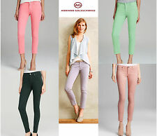 NWT ADRIANO GOLDSCHMIED Modal Sateen Cropped Skinny Legging Pants Jeans $220