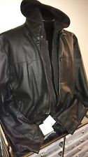 Calvin Klein Hooded Faux Leather Jacket, NWT Really Sharp!!!!!