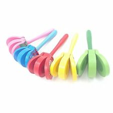 Lovely Cartoon Wooden Castanets Baby Musical Toys Bright Colors for Gifts BU
