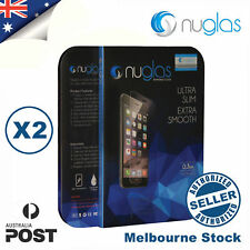 2 X NUGLAS Genuine Tempered Glass Screen Protector for apple iPhone 6 6s 7 7plus