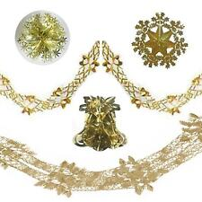 SW Christmas Foil Ceiling Decorations Bell Ball Garlands Chandelier - Gold