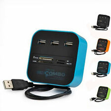 USB 2.0 HUB with Multi-card Reader Combo for SD/MMC/M2/MS MP-All In One Plastic