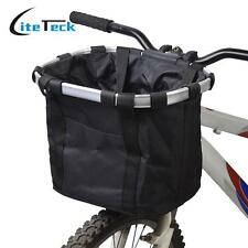 Pet Basket Carrier Bike Seat Gear Dog Cat Travel Solvit Aluminum Bicycle Holder