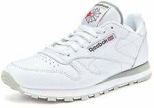 Reebok Classic Leather Men's Trainers - White/Grey - 2214 - Size UK 7-12 - BNIB