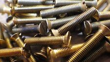 "2BA x 3"" SOLID BRASS SLOTTED COUNTERSUNK HEAD BA MACHINE SCREWS MODEL STEAM"