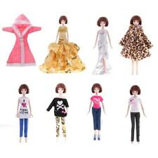 Outfit Shirt Pants Coat Doll Clothes for Princess Barbie Complete Look Dress Up