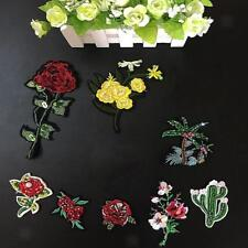 Beautiful Flowers/Coconut Tree Embroidery Iron on Applique Patches for DIY Craft