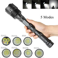 Tactical Police 40000Lumens CREE XML T6 LED Lamp 5 Modes Flashlight Torch Bright