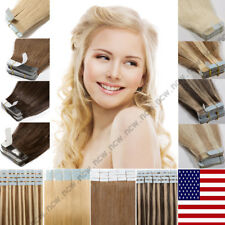 60PCS Tape in Hair Extensions 100% Virgin Remy Human Hair Skin Weft 150g US B764