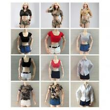 """1/6 Scale Women Girls Clothes Summer Outfit for 12"""" Phicen Kumik Action Figures"""