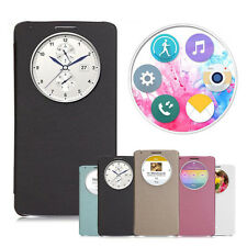 Quick Circle Window Leather Flip Case Cover for LG G3 D850 D851 D855 F460 Anne