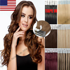 Tape In 60PCS Virgin Human Hair Extensions 100% Real Remy Skin Weft Seamless B76