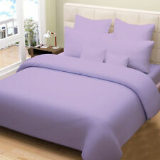 1000TC 100%EGYPTIAN COTTON DUVET COVER SET COLLECTION USSIZE LILAC SOLID