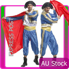 Adult Mens Red Bullfighter Matador Deluxe Classic Bull Fighter Spanish Outfits