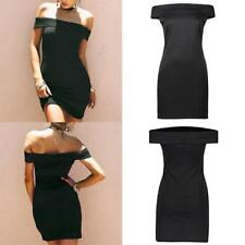 Womens Off Shoulder Bandage Bodycon Party Evening Ladies Short Mini Dress