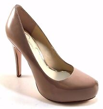 Jessica Simpson Parisah Nude Patent Pointy High Heel Platform Pumps