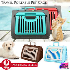 Portable Pet Crate Collapsible Travel Cat Dog Carrier Cage Carry Case Large Door