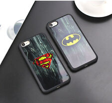Vintage Batman Superman Silicone Case Cover Rubber iPhone Camouflage