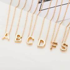 NEW Alphabet Letter Initial Pendant Charm Gold Necklace Chain Fashion Jewelry