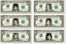 CELEBRITIES on REAL Dollar Bill Cash Money Memorabilia Collectible Bank Note V.1