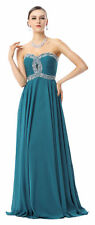 2017 Gorgeous Beadings Long Formal Evening Pageant Prom Graduation Dresses Gown