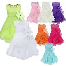Infant Baby Dress Flower Girls Baptism Christening Tutus  Birthday Party Dresses