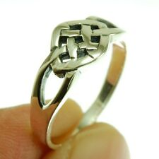 Celtic Knot Silver Ring, Mix-US-Size, Plain Solid Sterling Silver, rp128