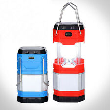 Collapsible LED USB Solar Rechargeable Lantern Outdoor Camping Hiking Lamp Light