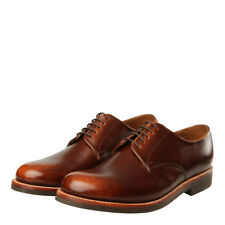 New Mens Grenson  Curtis Derby Shoe - Vintage Grain Brown 100% Leather