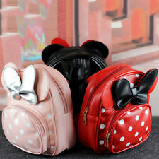 Baby Kid Girl Minnie Mouse Backpack Bowknot Dots Shoulder Bag School Travel Bags