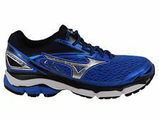NEW MENS MIZUNO WAVE INSPIRE 13 RUNNING SHOES STRONG BLUE / SILVER / BLA 2E-WIDE