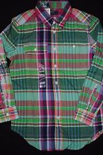 NEW Boys Kids Polo by Ralph Lauren Button Down Plaid Flannel Plaid Shirt M L XL