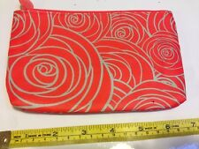 Ipsy Glam Bag Collector's Cosmetic Zip March 2016 Rose Floral Orange Green Blue