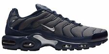 New NIKE AIR MAX PLUS TN Dark Gray Metallic Navy Blue Shoes 604133-050 Tuned Air