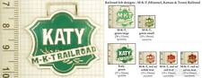 MKT & Katy railroad decorative fobs, various designs & keychain options