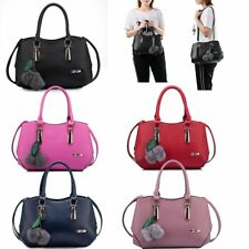 Women Ladies PU Leather Messenger Bag Casual Shoulder Bag Tote Bag Handbag Purse