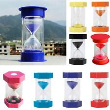 1/3/5/10/15/20/30/45/60 Min Sand Glass Hourglass Timer Cooking Clock Home Decor