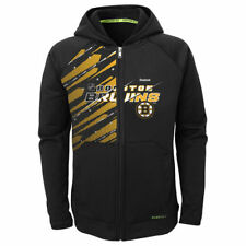 Reebok Boston Bruins Preschool Black TNT PlayDry Full Zip Hoodie - NHL